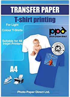 Photo Paper Direct PPD Inkjet Iron-On Light T Shirt Transfers Paper LTR 8.5x11