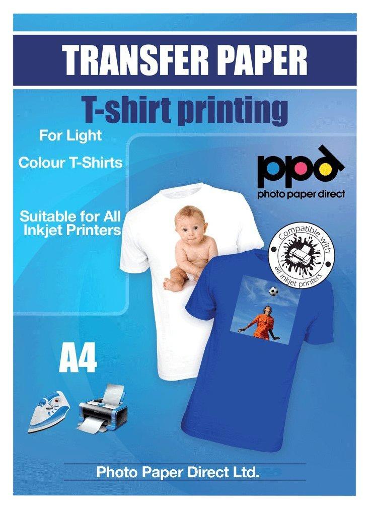 Unbekannt PPD Inkjet Transferpapier zum aufbügeln auf helle T-Shirts, DIN A4, 20 Blatt Photo Paper Direct