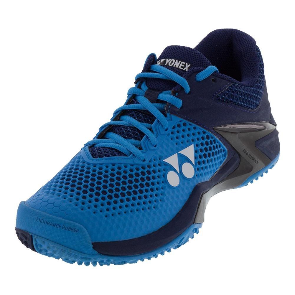 Yonex Power Cushion Eclipsion 2 Men's Clay Court Tennis Shoe, Blue/Navy (9)