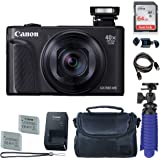 Canon PowerShot SX740 HS Digital Camera (Black) with 64 GB Card + Premium Camera Case + 2 Batteries + Tripod