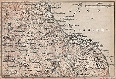 Karte Lago Maggiore Und Umgebung.Sestra Umgebung Baveno Gignese Lago Maggiore Italien