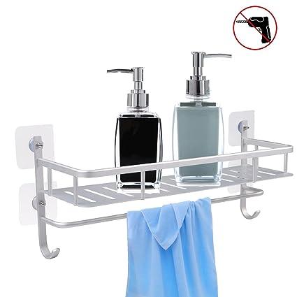Amazon.com: Sendida Bathroom Shelf Shower Caddy - No Drilling, Self ...