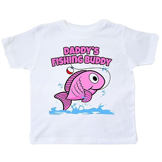 8a3d4475 Amazon.com: inktastic - Daddy's Fishing Buddy (Pink) Toddler T-Shirt ...