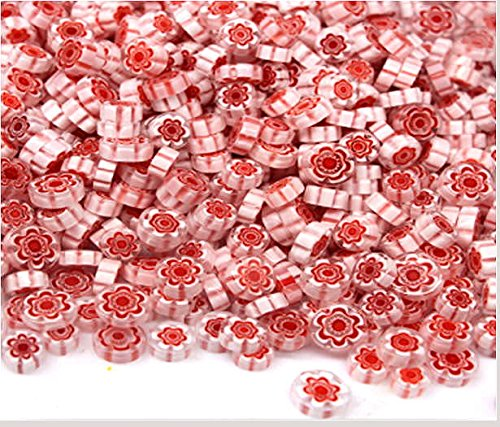 Devardi Glass COE 90 Premium Fire-Polished Millefiori 2 oz Style #13 Fusing, ()