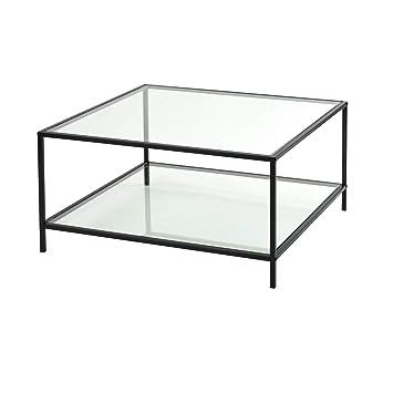 Furniture R France Couchtisch Aus Glas Rechteckig Rahmen Aus Metall