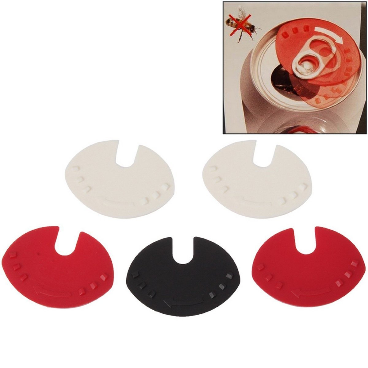 WINOMO Beverage Can Cap Closure 5pcs (Random Color)