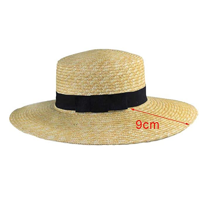 6418dd746 Women Summer Beach Sun hat 2019 Flat Top Straw Hat Bone Feminino ...