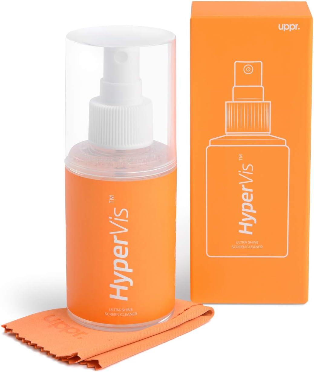 Kit de limpieza con spray y paño de microfibra para pantalla