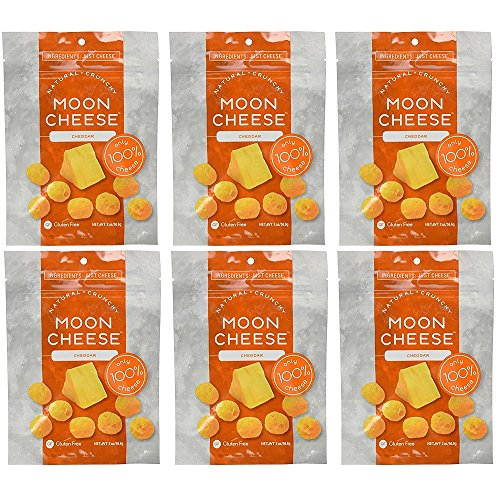 Moon Cheese 2 OZ, Pack of Six, Cheddar, 100% Cheese and Gluten Free For Sale