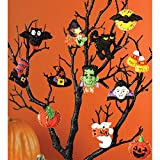 "Arts & Crafts : Bucilla 86430 Halloween Felt Applique Ornaments Kit (Size 2"" by 2.5-Inch), Set of 12"