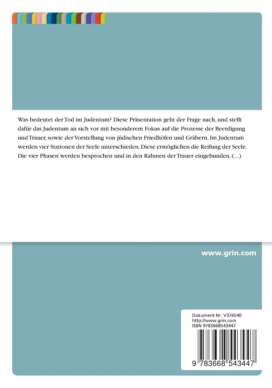 Tod und Trauer im Judentum: Amazon.de: Yasmin Sedighi, Esther ...