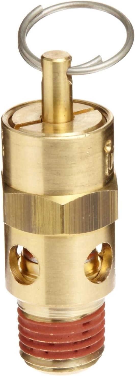 "Control Devices ST Series Brass ASME Safety Valve, 60 psi Set Pressure, 1/4"" Male NPT"