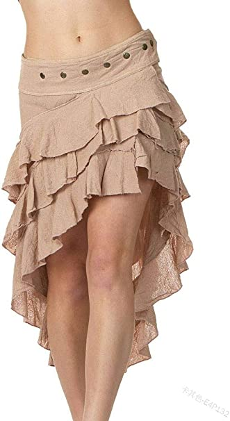 huateng Falda Steampunk gótica para Mujer Disfraz de Falda Lolita ...