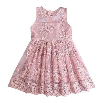 Amazon.com: TOPBIGGER 2020 - Vestido de encaje para niña ...