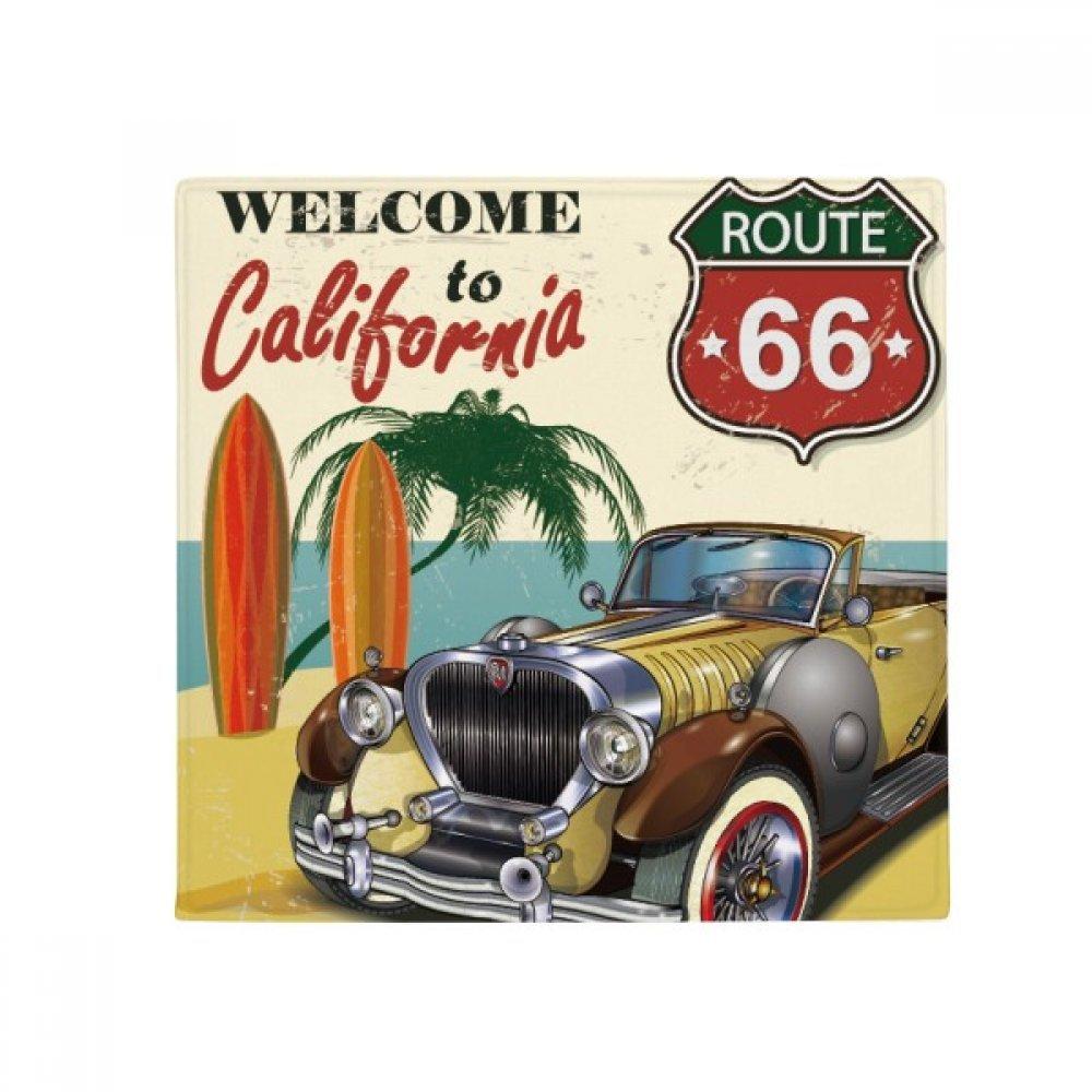 DIYthinker colorful Classic Cars Beach Pattern Anti-Slip Floor Pet Mat Square Home Kitchen Door 80Cm Gift
