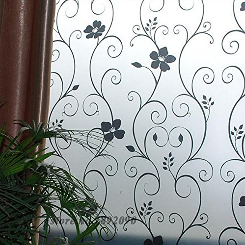 JUNGSON--Hot 45CM2M PVC Home Window Film Cover Frost Glass Privacy Adhesive Stickers