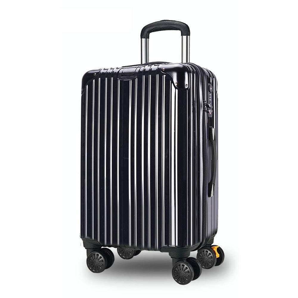 DS-トロリー トロリーケース - ABS + PC、TSA税関ロック、エクステンション層付き、スタイリッシュな傷防止ブラッシュド隠しフック大容量スーツケース - 4色、2サイズ利用可能 && (色 : 黒, サイズ さいず : 38*25*61.5cm) 38*25*61.5cm 黒 B07MXTYFQ6