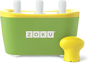 Zoku Quick Pop Maker, Make Popsicles in as Little as 7 Minutes on your Countertop, Green