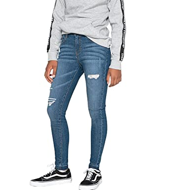 1504363528420 Amazon.com: La Redoute Collections Ripped Skinny Jeans, 10-16 Years ...