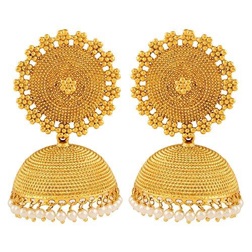 Adwitiya Collection 24K Gold Plated Designer Jhumki Earring for Women