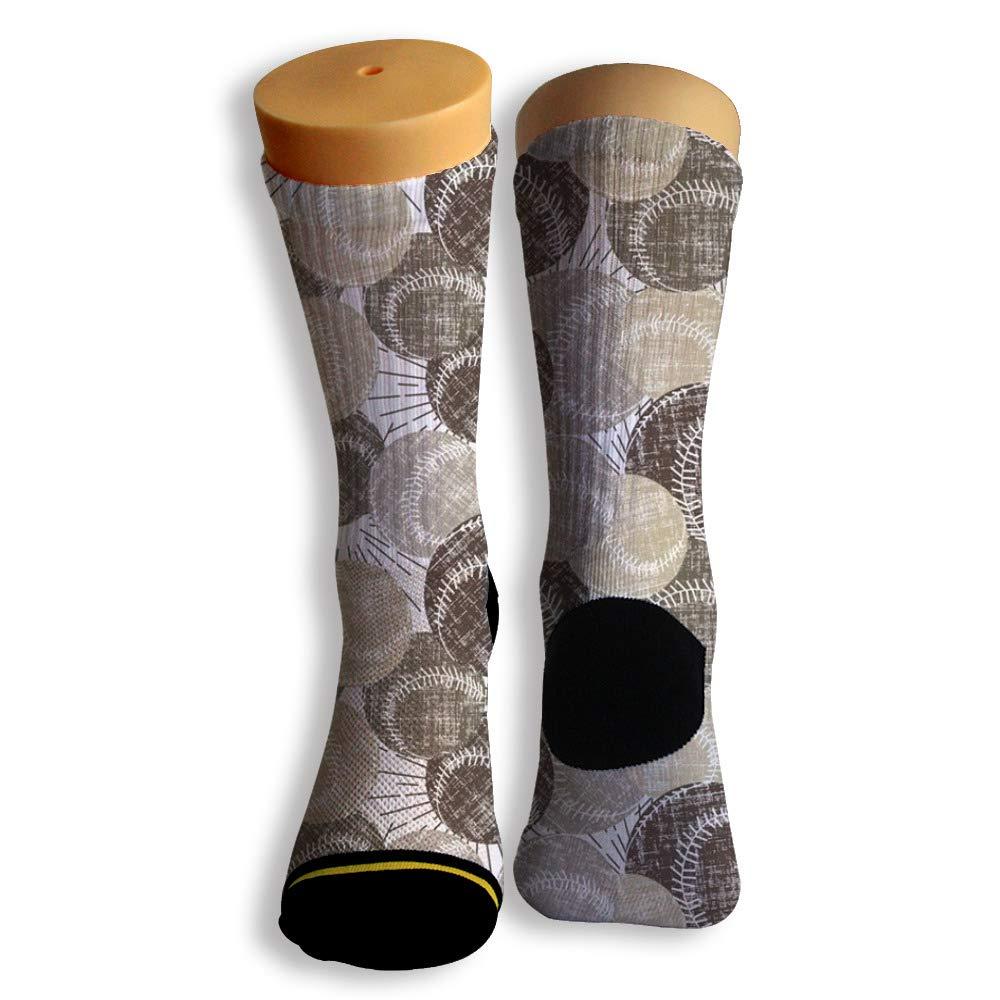 Basketball Soccer Baseball Socks by Potooy Textile Baseball 3D Print Cushion Athletic Crew Socks for Men Women