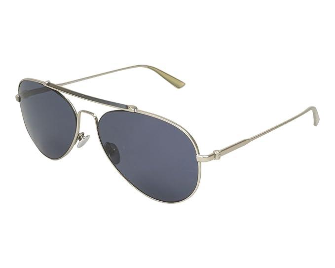 e17696a6230 Amazon.com  Calvin Klein Collection CK8032S Matte Silver Dark Blue ...