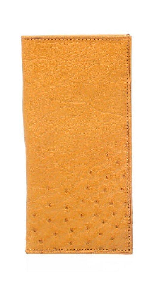 Ferrini Smooth Ostrich Checkbook Cover Buttercup
