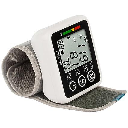 Happy FD Euph – Tensiómetro eléctrico de muñeca automático – Pantalla LCD, gráfico de Alertes