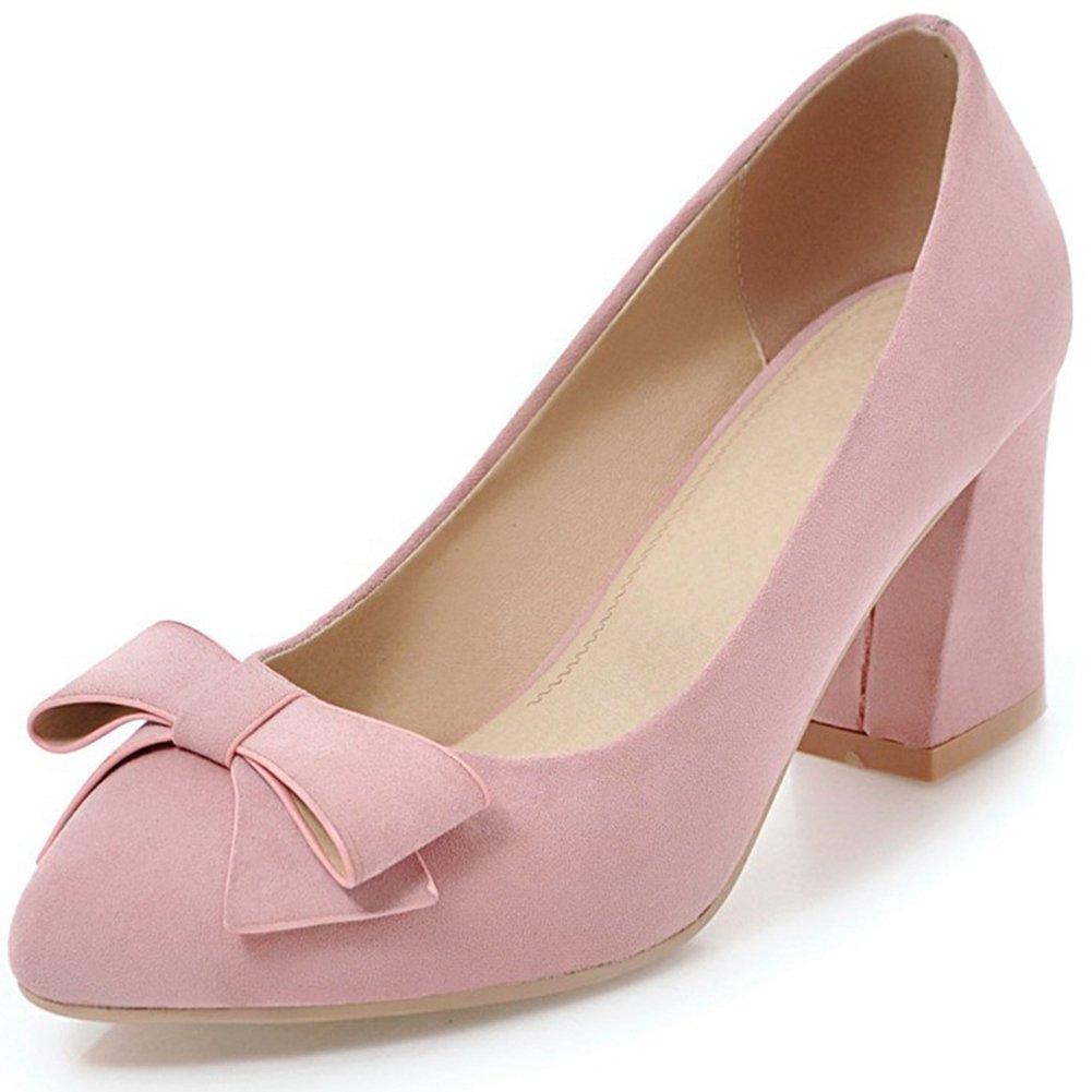 Adorable Pink Bow Design High Heel Shoes   Heels, High heels
