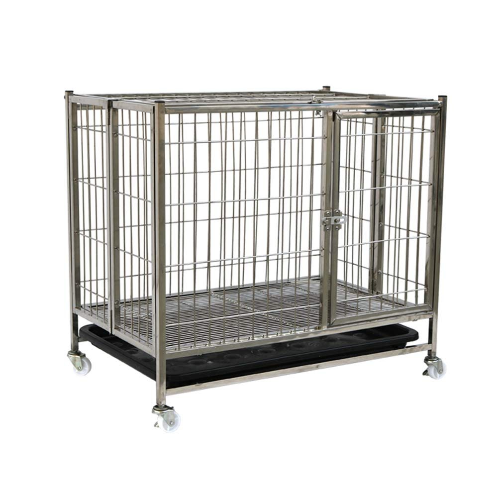 624560cm XCLLL Pet Fence Small and Medium Sized Dogs Labrador golden Hair Satsuma Teddy, Suitable For Indoor, Stainless Steel Resistance to Bite,62  45  60cm