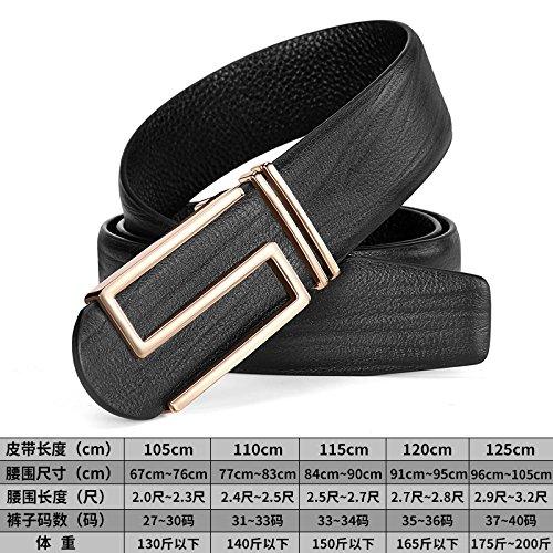 LLZZPPD Cinturón Correa de la juventud de los hombres carta marrón hebilla  lisa cinturón de 854e993bba7e