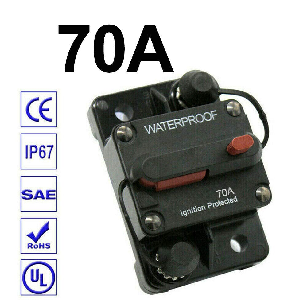 30A-300A Premium High-Current Circuit Breakers 100A 12-48V DC Amp Breaker with Fuse Manual Reset Switch Waterproof for Boat Marine RV Yacht Battery Trailer Bus Truck