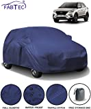Fabtec Waterproof Car Body Cover for Hyundai Creta (2018-2019) with Mirror Pocket & Storage Bag Combo (Full Sized, Triple Stitched, Fully Elastic) (Navy Blue)