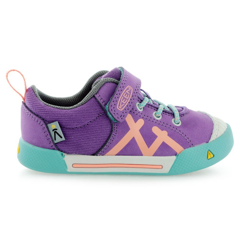 KEEN Encanto Sneaker Shoe (Toddler/Little Kid), Purple Heart/Fusion Coral, 8 M US Toddler by KEEN (Image #4)