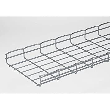 Amazon.com: Wire Mesh Cable Tray, W12 In, L 6.5 Ft, PK4: Home ...