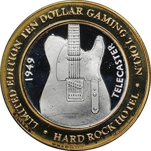 1999 Hard Rock 10 Silver Casino Strike, Telecaster Guitar, w/Original Capsule