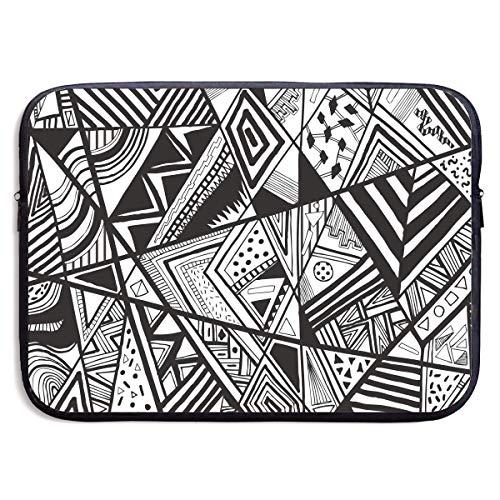 Geometric Nugget - Homlife Laptop Sleeve Bag Tangram Geometric Pattern Stitching 13/15 Inch Briefcase Sleeve Bags Cover Notebook Case Waterproof Portable Messenger Bags