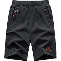SUKUTU Pantalones Cortos de Secado rápido para Hombres