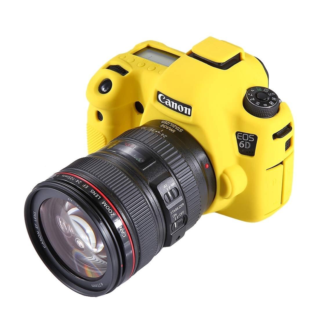 ShenBiadolr カメラレンズケース PULUZ ソフトシリコン保護ケース Canon EOS 6D用 (サイズ : Pu7101y) B07L1HRRQ6