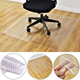 Qiyun Rolling Chair Mat,Transparent Anti Slip Rectangle Floor Protector Mat for Home Office