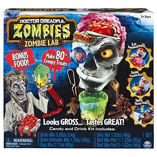 Amaze Friends And Family ALike With Doctor Dreadful Zombies - Zombie Lab with Candy and Drink Maker, Plus Bonus Food Enough To Make 80 Creepy Treats -