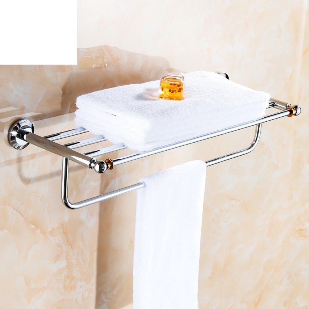 DIDIDD Shelf-All-Copper Towel Rack/Towel Bar/Bathroom Hardware Bathroom Bathroom Rack/Towel Rack2Gold-Plated Layer