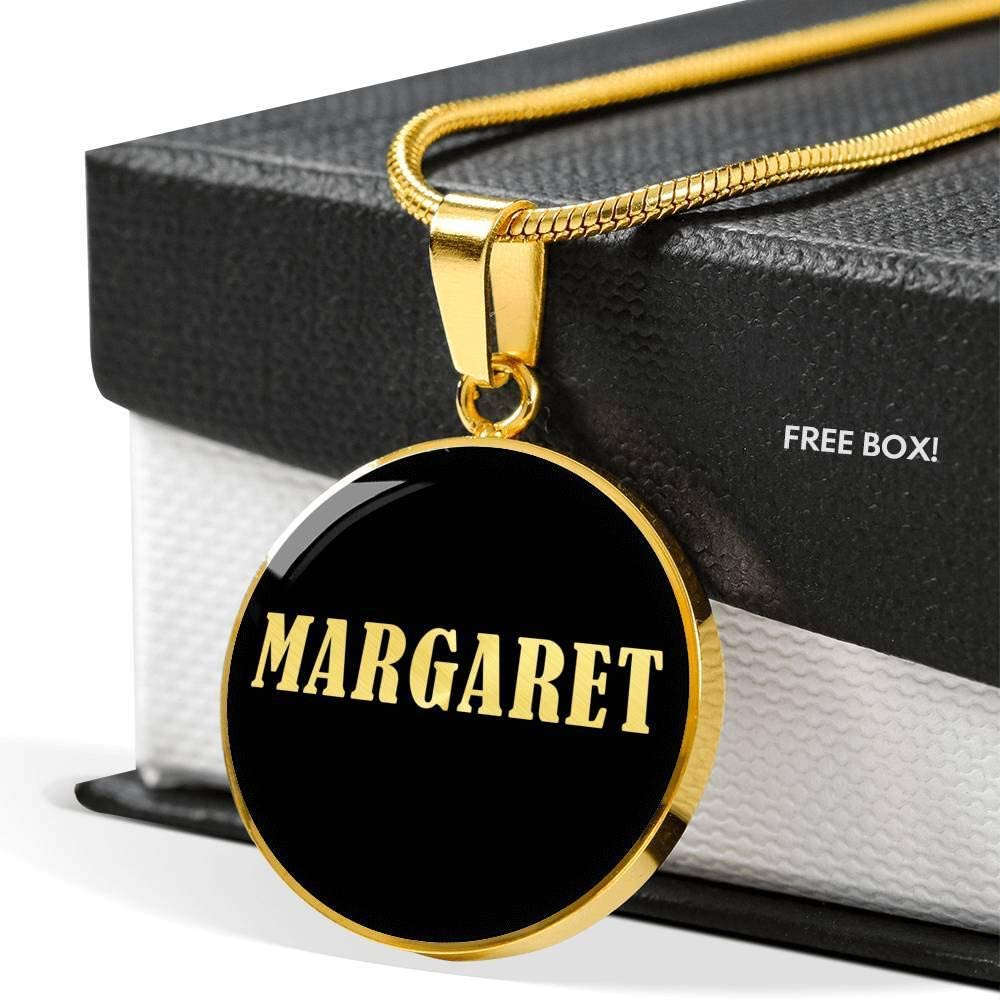 Margaret v02-18k Gold Finished Luxury Necklace Personalized Name Birthday Gifts Jewelry