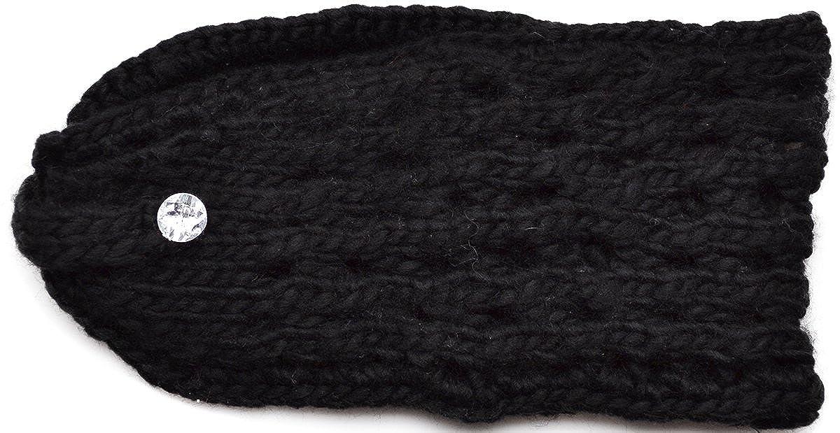 Made of Me Soft Loose Knit Winter Womens Headbands Fashion Black