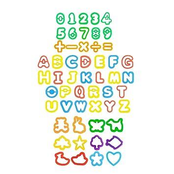 YeahiBaby Kit de Herramientas de Masa de Arcilla con Modelos y moldes Carta para Niños 53