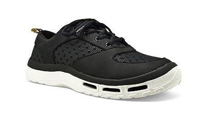 SoftScience Men's Fin 3.0 Boating Shoe Black 7