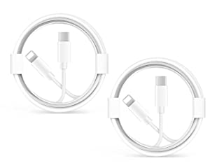 iPhone Fast Charger Cable, 【Apple MFi Certified】iPhone Charging Cord 2-Pack 4.9FT/1.5M USB Type C to Lightning Cable for iPhone 12/12 PRO/Max/11/11Pro/XS/Max/XR/X/8/8Plus iPad/iPad Mini