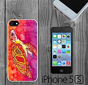 Pink Sea Turtle Custom made Case/Cover/skin FOR iPhone 6 plus - White - Rubber Case