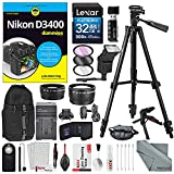 Nikon D3400 for Dummies + Deluxe Accessory Bundle with Xpix Tripods,...