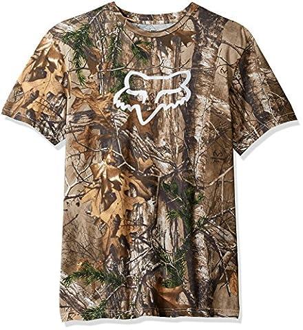 Fox Men's Realtree Short Sleeve Premium Tee, Camo, X-Large (Fox Mx Shirts)